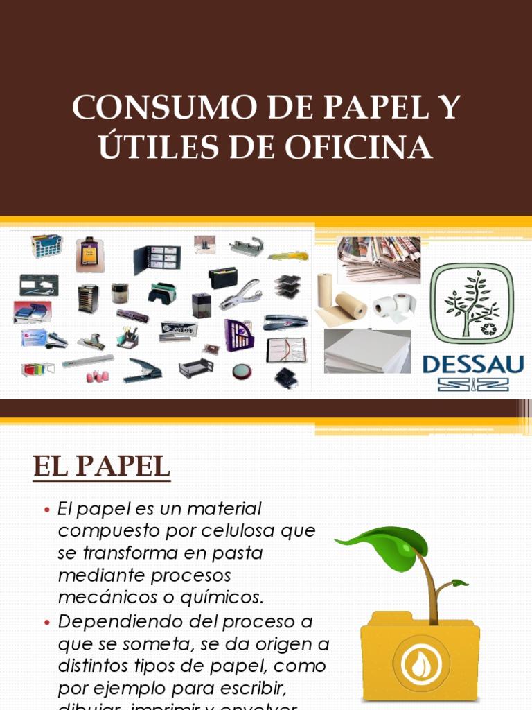 Consumo de papel y utiles de oficina - Oficinas de consumo ...