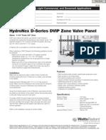 Hydronex Specification D-Series DVIP Zone Valve Panel