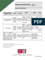 Programa Anual de Auditorias Internas2012 Control Interno