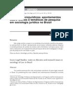apontamentos sobre teorias e tematicas de pesquisa em sociologia jurídica no Brasil
