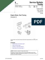 Engine Brake, Fault Tracing