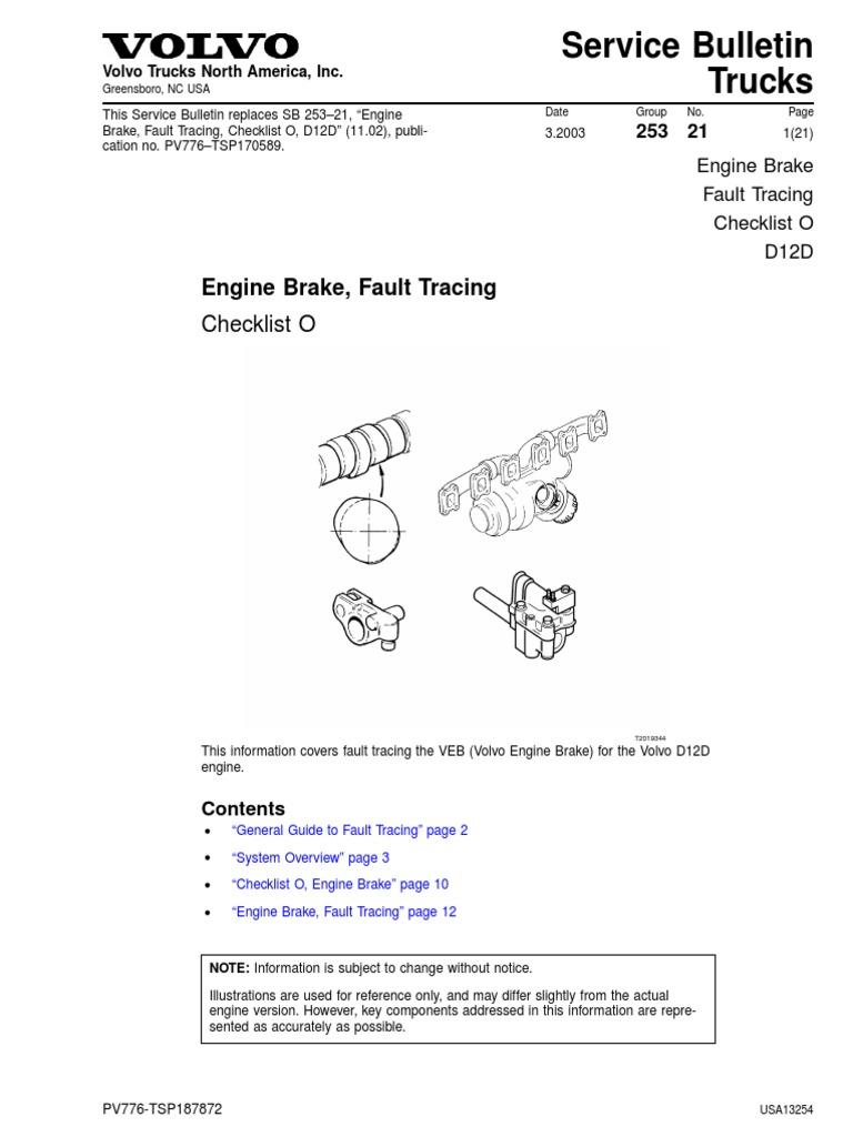 Engine Brake, Fault Tracing | Piston | Valve