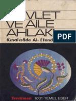 1001_Kınalızade Ali Efendi - Devlet ve Aile Ahlakı
