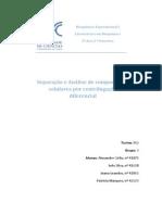 Bioquímica Experimental I - Relatório 1 - Centrifugação Diferencial