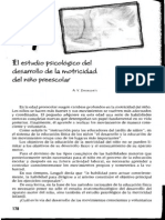el estudio psicologica de la motricidad de niño preescolar