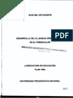 1897 Desarrollo de La Lengua Oral y Escrita en Preescolar