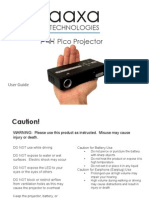 p4x Manual Microproyector
