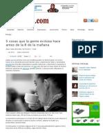 5 cosas que la gente exitosa hace antes de la 8 de la mañana | Informe21.com