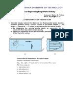 Homework Assignment (Viscous Flow)