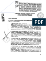 Versión final del dictamen de Ley Universitaria aprobado por la Comisión de Educación