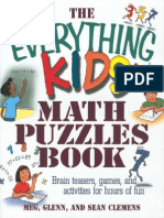Everything Kids Math Puzzles Book