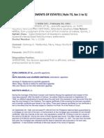 Summary Settlements of Estates