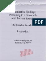 ICC - Hardin DOJ Complaint - Poison and Banking Fraud - Tomball