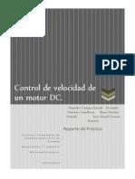 Control de Velocidad de Motor de CD