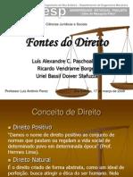 Fontes do Direito - Ciências Jurídicas
