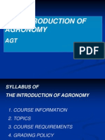 Dbt 1 - Intro of Agronomy