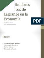 Multiplicadores de Lagrange en La Economia