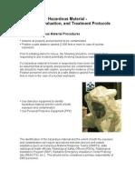Standard Hazardous Material Procedures