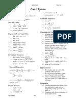c 2 Revision Sheet