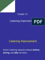 Chapter 15 Listening Improvement