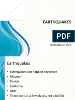 Earthquake Presentation