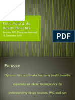 folic acid  its health benefits employee inservice 1