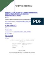 Laporan Praktikum Kimia Analitik