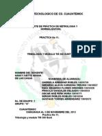 REPORTE DE TRIBOLOGÍA, METROLOGIA