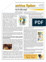 Food and Nutrition Update Newsletter Jan 2011