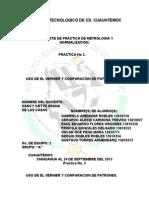 Reporte de Practica de Metrologia