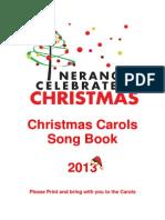 Nerang Celebrates Christmas Song book 2013