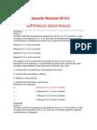 Evaluación Nacional MATERIALES INDUSTRIALES 2013-2