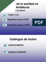 Sector de la sanidad en Andalucía POWERPOINT ISABEL