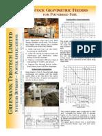 Gravimetric Feeder for Pulvurised Fuel
