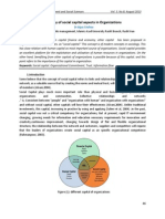 A Survey of Social Capital Aspects in Organizations