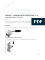 Designing a Temperature Based Heating System