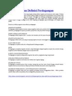 Pengertian dan Definisi Perdagangan.doc