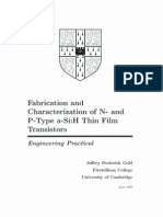 Fabrication and Characterization of N- and P-Type a-Si:H Thin Film Transistors