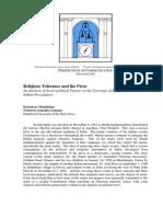 10.Religious Tolerance & Press
