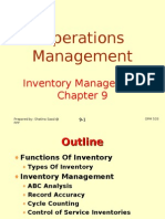 Operations Management (OPM530) C9 Inventory Management