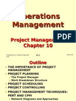 Operations Management (OPM530) C10 Project Management