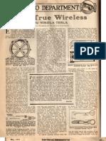 Electrical Experimenter Tesla 1919