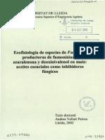 Ecofisiologia de Fusarium