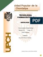 Antología de tecnología farmacéutica II
