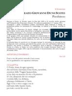 8 Novembre Liturgia (Giovanni Duns Scoto)