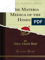 The Materia Medica of the Hindus