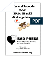 Handbook for Pit Bull Adopters