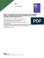 BERUBE-PARENT et al, 2005 - Efeitos energéticos e antioxidantes