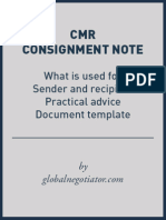 CMR Consignment Note Form