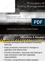 Principles of Safety Management
